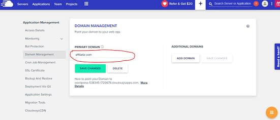 add domain to cloudways