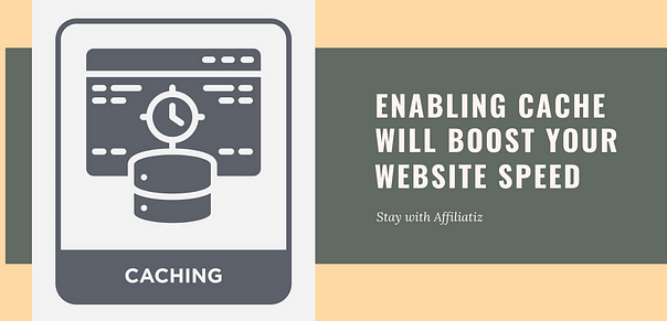 install a caching plugin to increase website loading speed