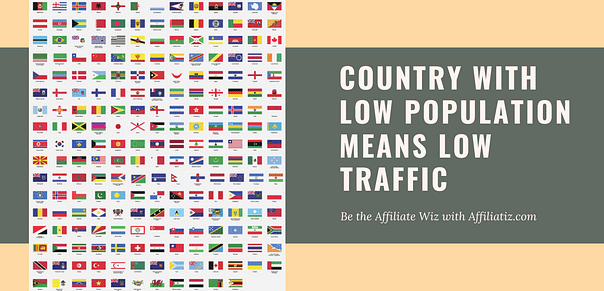 How much traffic does a site get by country