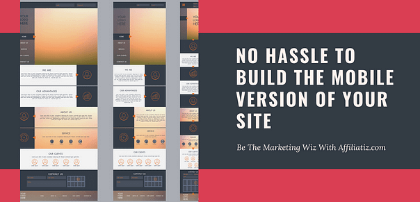 Easiest way to build dedicated mobile version of your website