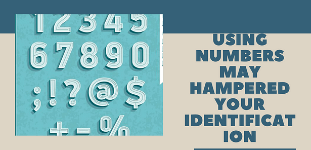 avoid symbols and numbers